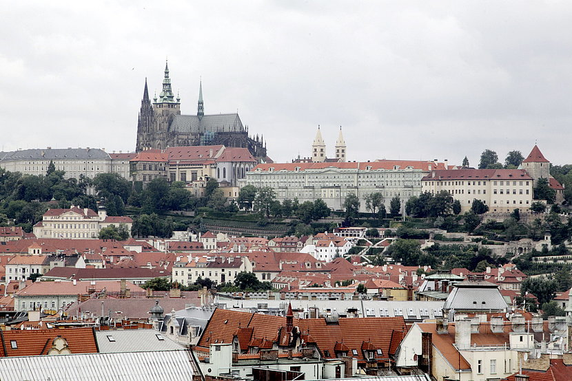 Prague in view of the castle