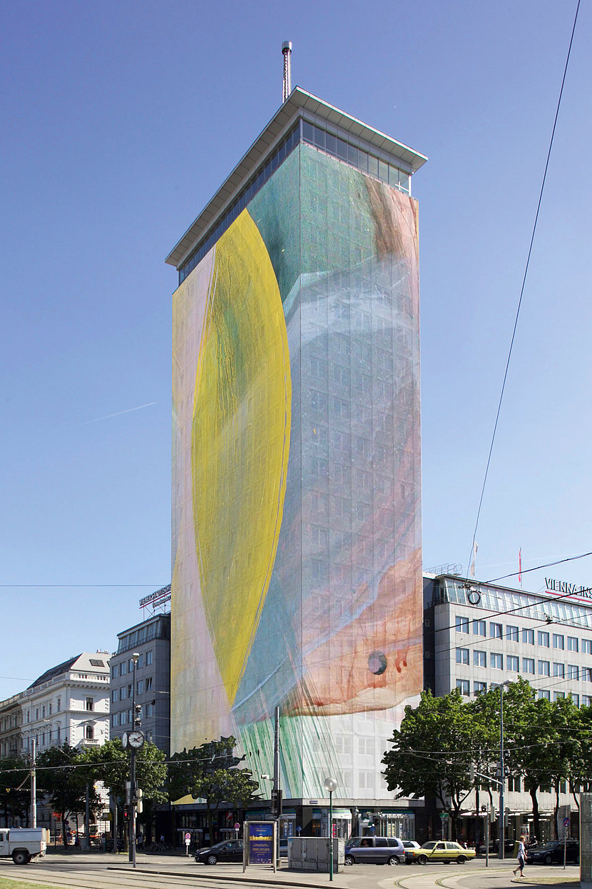 Ringturm Wrapping by Arnulf Rainer