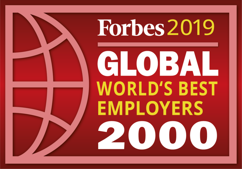 "Siegel Forbes ""Global World's best emloyers 2000"" für 2019"