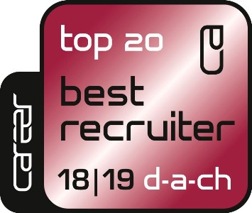 Siegel Top 20 Best Recruiter für DACH-Region 2018/2019