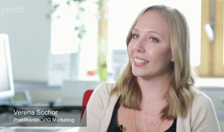 Video of Verena Sochor about her internship at VIG